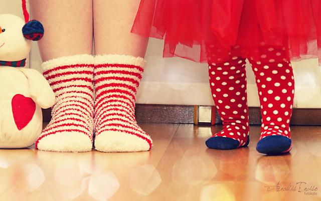 De calcetines, rayas y topos…