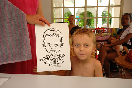 caricature live sketching for children birthday party 08 Oct 2011 - 14