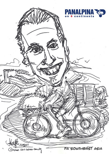 caricature draft for Panalpina