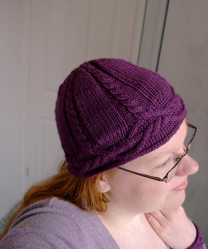 Cabled beanie hat knitted pattern pdf Ravelry Interwoven Hat cableknit