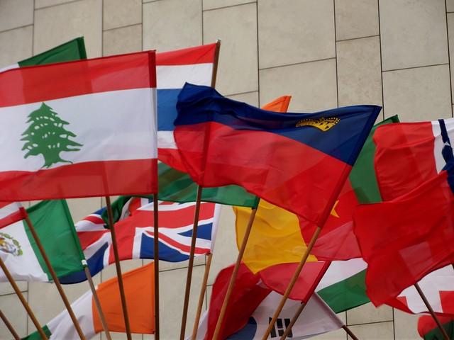 Flagi uczestników Kongresu