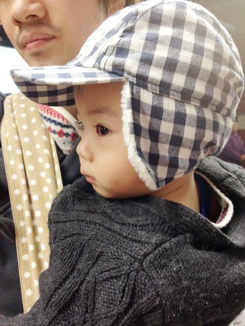 H&M hat & grandpa cardigan