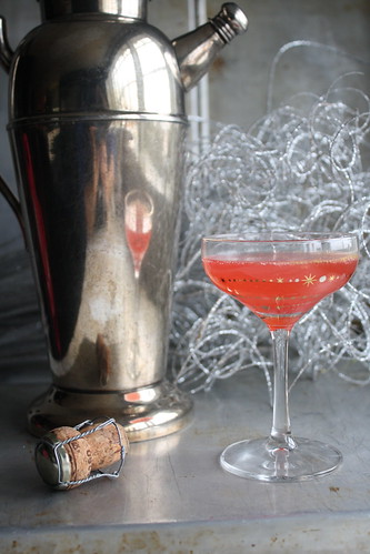 Blood Orange Champagne Cocktail