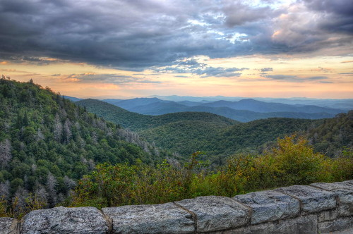 sunset nature clouds landscape nikon northcarolina hdr blueridgeparkway photomatix tonemapped nikond90 eastforkoverlook