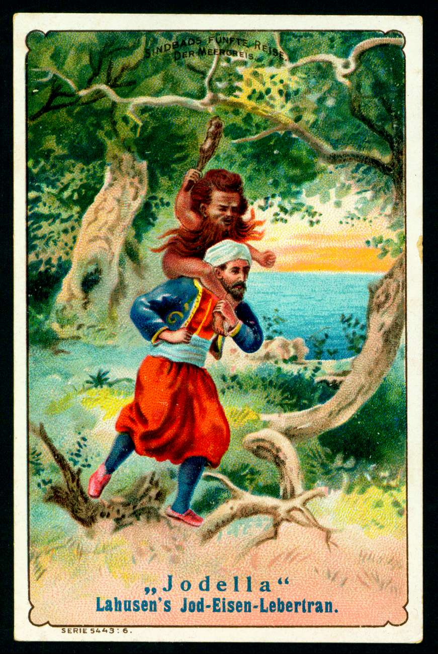 Lahusen's Tonic's (Iron-Iodine-Liver Oil) Sinbad the Sailor (1) c1900