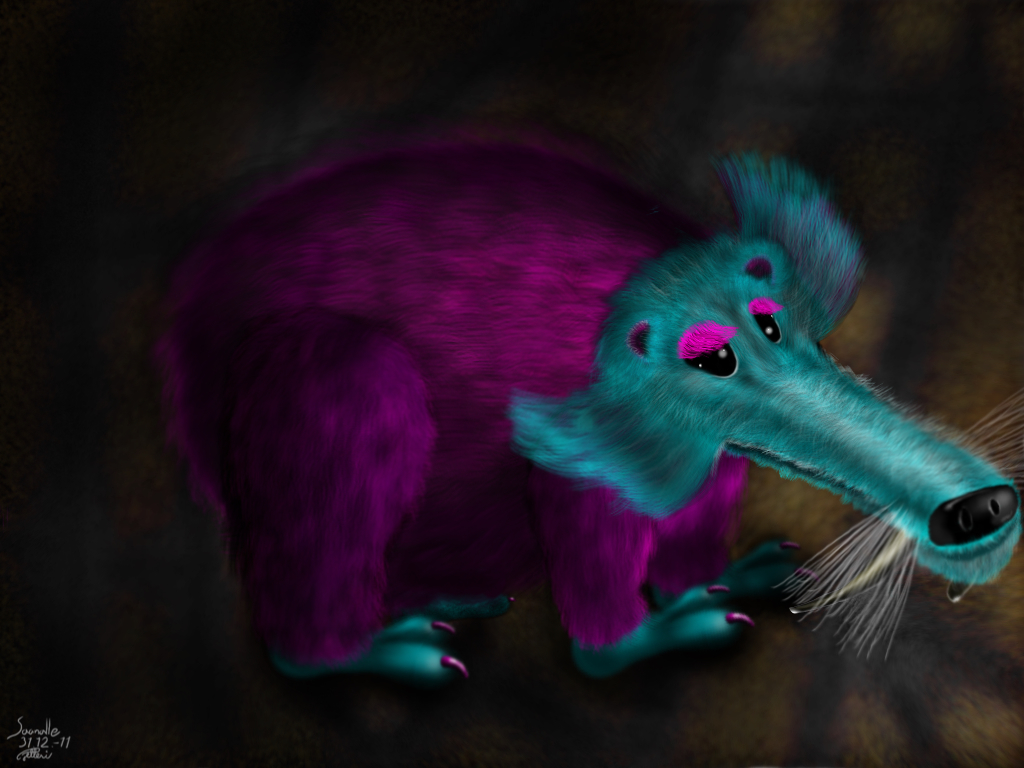 Sapelihammasmarsu - Sabretooth Guinea Pig (ridiculous fluffius)