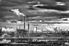 [Free Images] Architecture, Factory, Black and White, Landscape - Germany ID:201201042200