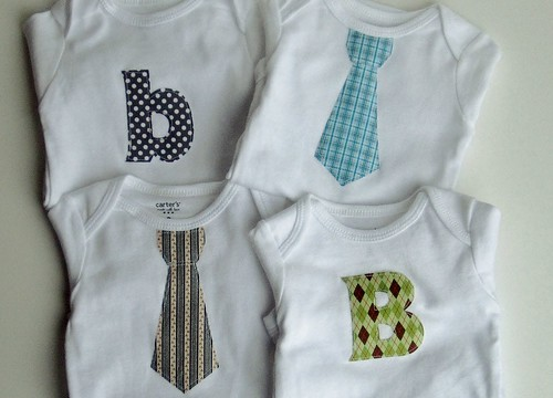 Applique onesies, set