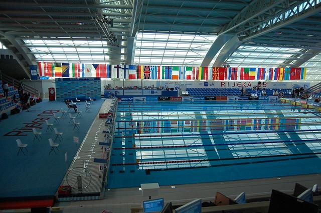 Flags in the Rijeka 2008 competiton pool