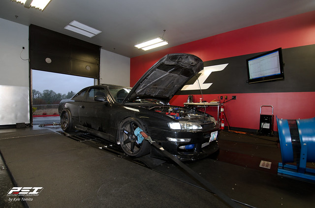 RB25 powered S14.5 on the dyno at PSI