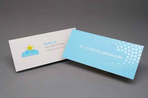 Slim Cut Silk Laminated Business Card with Spot UV