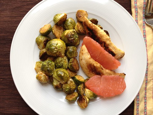 Brussels sprouts and chicken