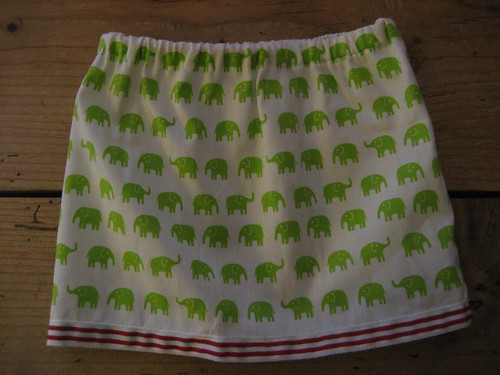 Wee elephant skirt, for a newborn baby girl