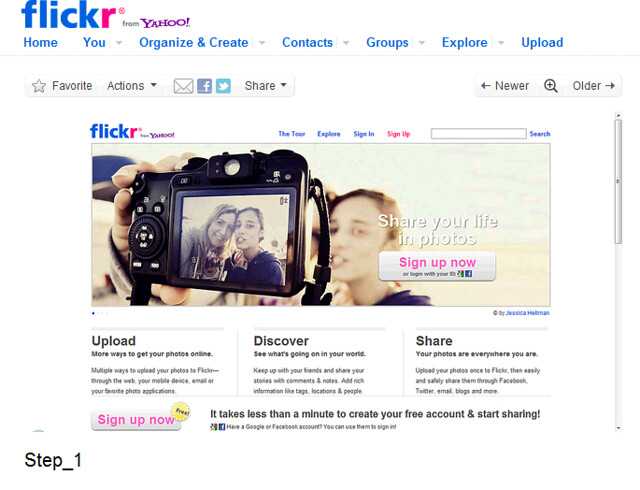 Select the flickr photo