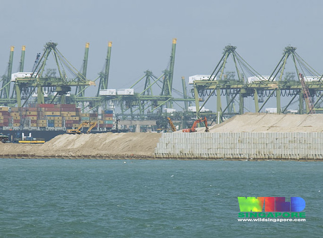 Massive reclamation for new Pasir Panjang Container Terminal