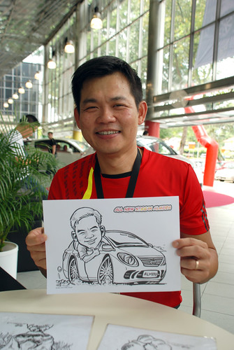 Caricature live sketching for Tan Chong Nissan Almera Soft Launch - Day 1 - 17
