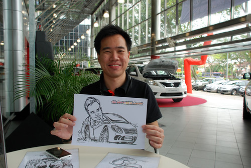 Caricature live sketching for Tan Chong Nissan Almera Soft Launch - Day 2 - 4