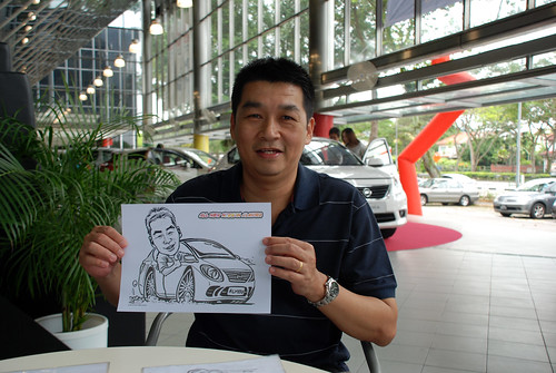 Caricature live sketching for Tan Chong Nissan Almera Soft Launch - Day 2 - 7