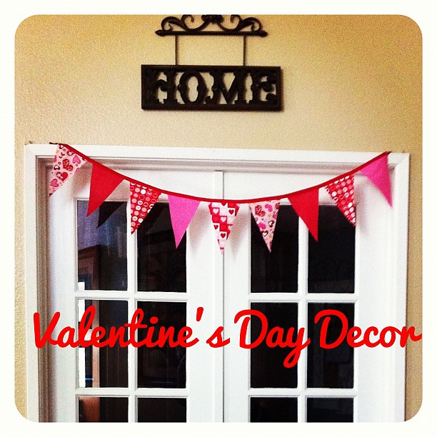 Why yes, I am decorating for the next big Hallmark Holiday. Valentine's Day bunting is up. #crafty
