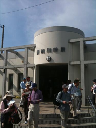 豊前川崎駅を出発