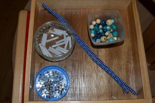 Icicle Making Activity (Photo from My Montessori Preschool)