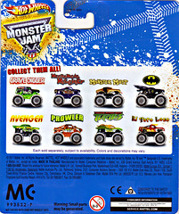 """ Hot Wheels "" Monster Jam ' Teenage Mutant Ninja Turtles ' 1:64 Monster Truck - Michelangelo {  HOLIDAY EDITION } ..card backer ii (( 2011 ))"
