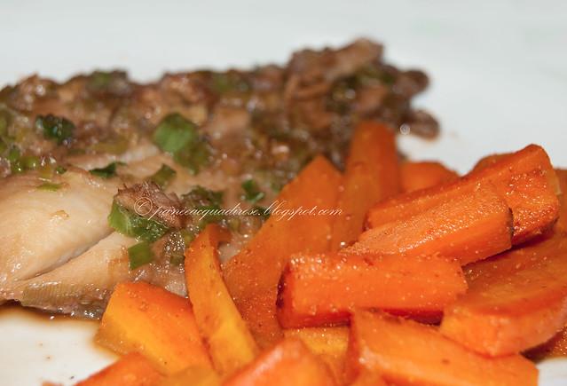 halibut con cipolotto e salsa di soia