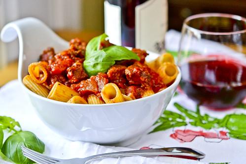 Simple Italian Suasage Ragu with Rigatoni | Full Fork Ahead
