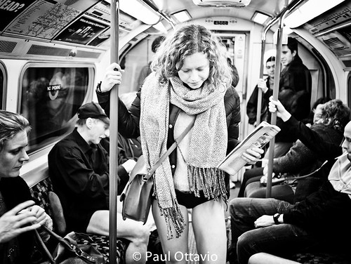 No Pants Day 2012 on the London Underground