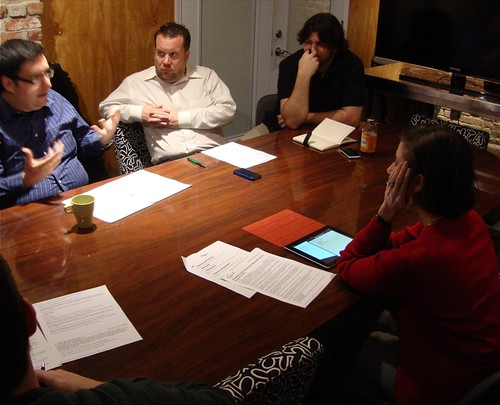 TEDxRedRiver planning: John Miralles, John Grindley, Cole Brand, Paula Hickman by trudeau