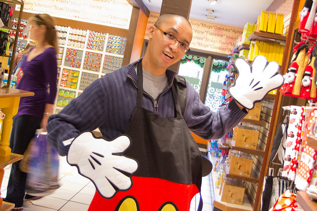Mickey Oven Mitts and Apron