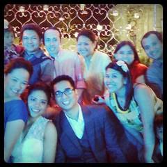 Last night. Congratulations iz and Lara
