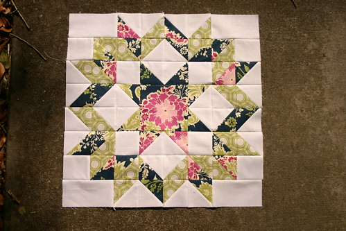 {Sew} Beautiful January block for Cherie