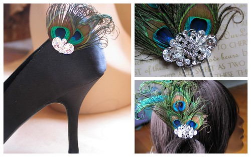 Bridal Style Trend: Peacock Feathers by Nina Renee Designs