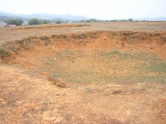 Large bomb crater (Laos 2006)