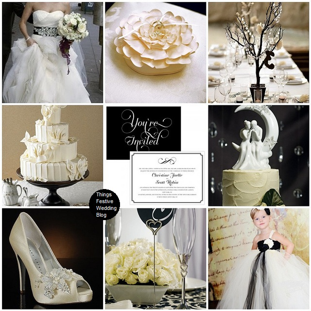 Ivory, Black And White Wedding Theme