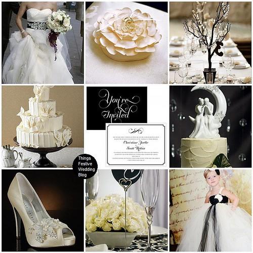 ivory and black Wedding Theme