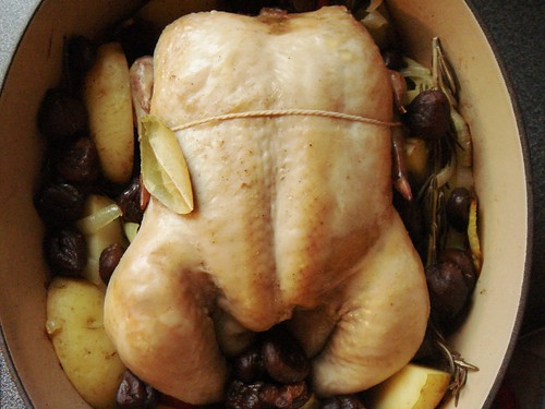 M. Jacques Cognac Chicken with Chestnuts: Out of Oven