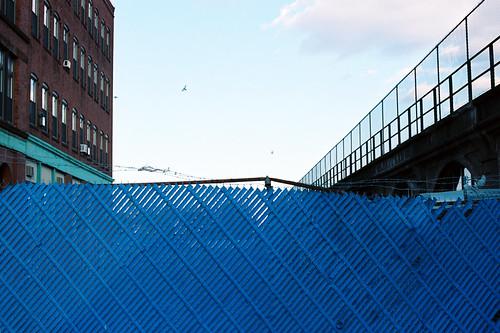 blue bird film train 35mm fence square ma graffiti wire track kodak air central rail lynn 100 barb conditioner ektar