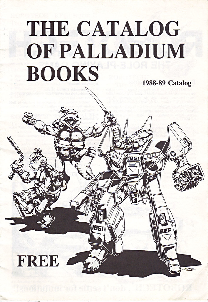 'THE CATALOG OF PALLADIUM BOOKS 1988-89 Catalog' i (( 1988 )) by tOkKa