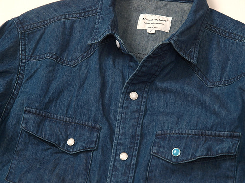 Manual Alphabet / Denim Western Shirt