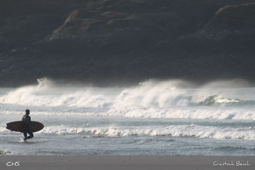 Lone Surfer, Crantock Beach by Stocker Images