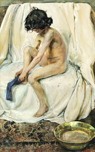 Polenova,  Elena (Russian,   1850-1898)  - After the bath  - s.d.