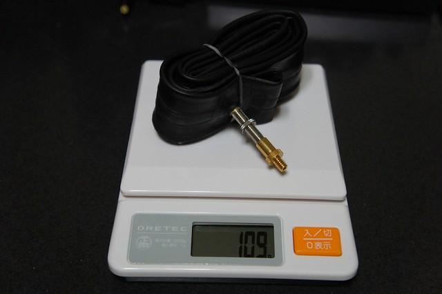 Bruno Road20標準のチューブ重量