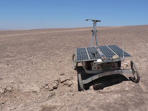 Rover in the Atacama