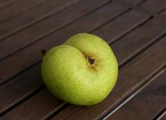 pear, green, fruit, food, close-up,