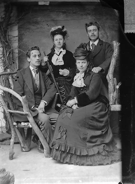 Edward Price and family, Llangollen