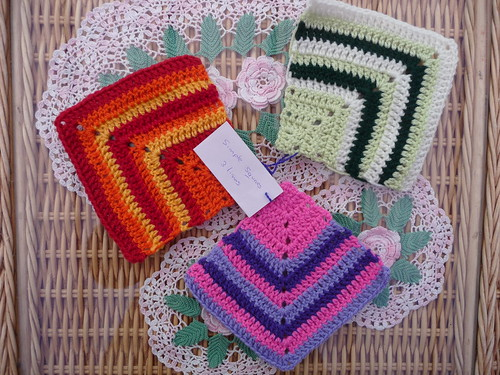 'Knit Today' Challenge. (Which has now ended after these Squares, thank you so much Fiona! I love them all!