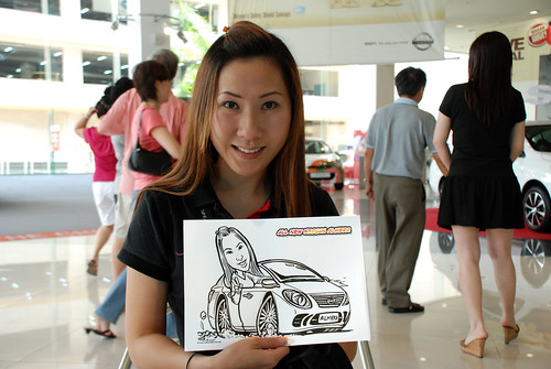 Caricature live sketching for Tan Chong Nissan Motor Almera Soft Launch - Day 4 - 6