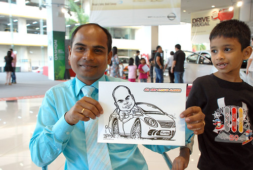 Caricature live sketching for Tan Chong Nissan Motor Almera Soft Launch - Day 4 - 19